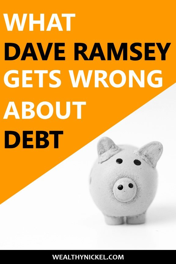 Dave Ramsey says all debt is bad. But is being completely debt free the goal? See how all debt payoff is not created equal. #debt #debtfree #debtpayoff #studentloans #mortgage #creditcard