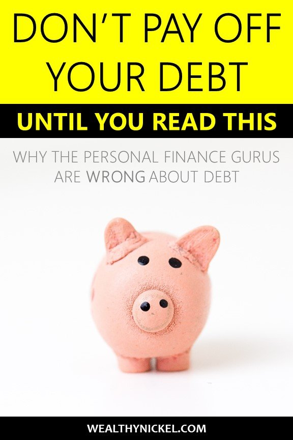 We are taught that all debt is bad and should be paid off immediately. That's not always true. Find out why debt payoff is not the ultimate goal, and how some debt can help build wealth. #debtpayoff #debtfreeliving #NOTdebtfree