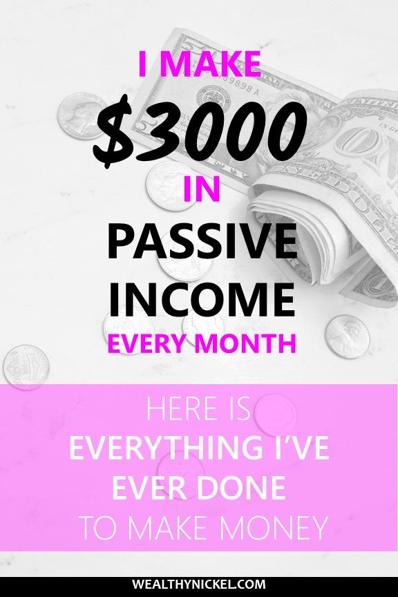 I've tried a lot of things to make money over the years. Now I make over $3000 in passive income each month. Here's everything I've ever done to make extra money. #makemoney #passiveincome #extramoney #makemoremoney