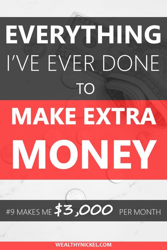 Here are all the things I've done to make extra money (even back to childhood!) Now I make over $3000 in passive income each month. Here's everything I've ever done to make more money. #makemoney #passiveincome #extramoney #makemoremoney