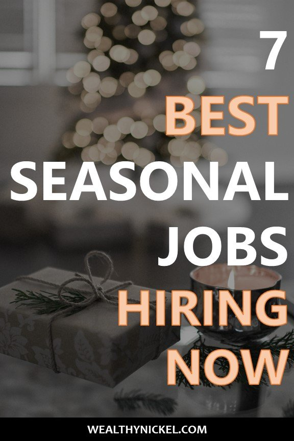 These major retailers are hiring thousands of workers for seasonal jobs. Some are even work from home jobs. Don't miss out on these holiday job opportunities. #seasonaljobs #holidayjobs #workfromhome