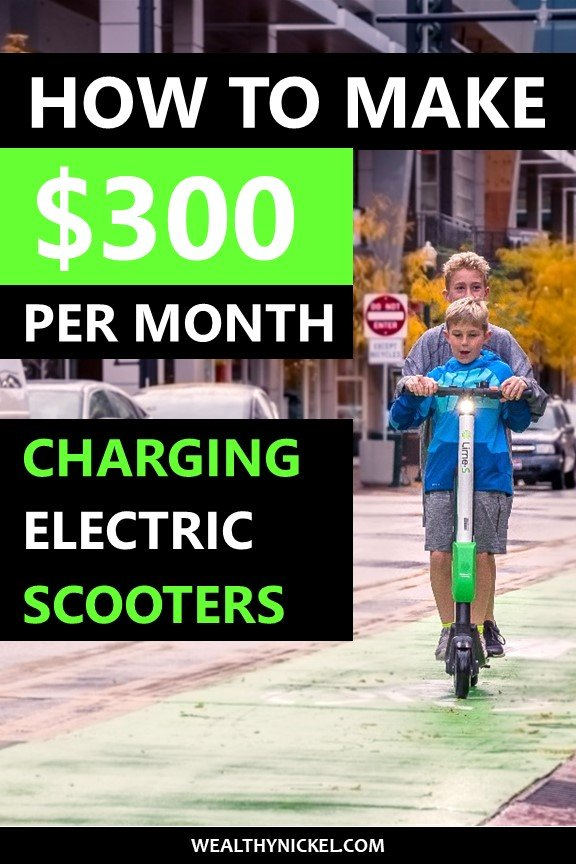 Learn how Thomas makes over $300 per month charging electric scooters at home. He makes extra money just picking up scooters on his normal commute! #makemoney #sidehustles #workfromhome #money #personalfinance