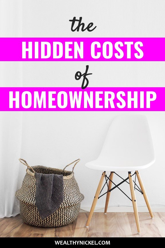 Before you buy a home, make sure you understand these hidden costs of homeownership. Should you keep renting or buy a home? Consider ALL the costs of owning a home before you decide. #realestate #home #homeowner #homeownertips #mortgage #savemoney