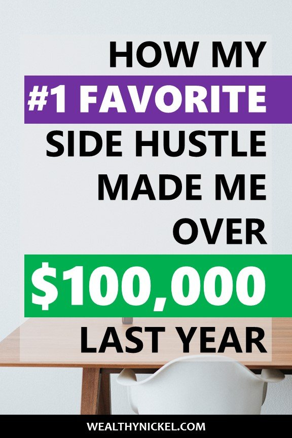 Our annual side hustle income report shows how we made over $100k in extra income working from home. Our #1 favorite side hustle is real estate investing. See how we made money through real estate and more by clicking through now! #incomereport #extraincome #workfromhome #passiveincome #sidehustles #sidehustleideas #makemoneyfromhome #realestateinvesting