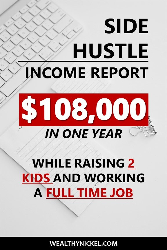 Here is our family's annual side hustle income report. See all the ways we make extra income through side jobs, and our #1 favorite way to make money from home (it made us over $100k last year!) #incomereport #extraincome #workfromhome #passiveincome #sidehustles #sidehustleideas #makemoneyfromhome #realestateinvesting