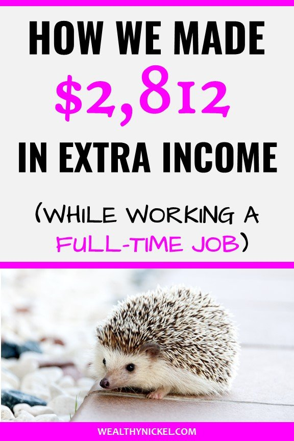 Check out our family's monthly side hustle income report! See all the ways we make extra income through side jobs while still working full-time, and our #1 favorite way to make money from home (it made us over $100k last year!) #incomereport #extraincome #workfromhome #passiveincome #sidehustles #sidehustleideas #makemoneyfromhome #realestateinvesting