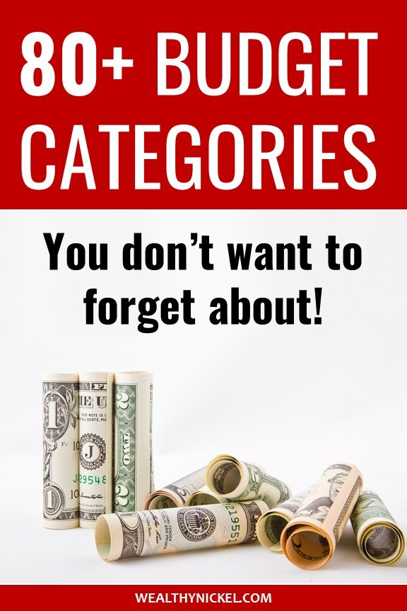 best budget categories you don't want to forget about