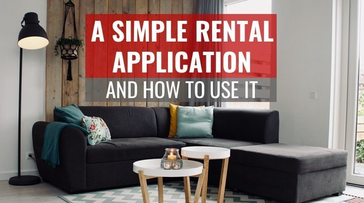 simple rental application pdf form feature image with living room arrangement