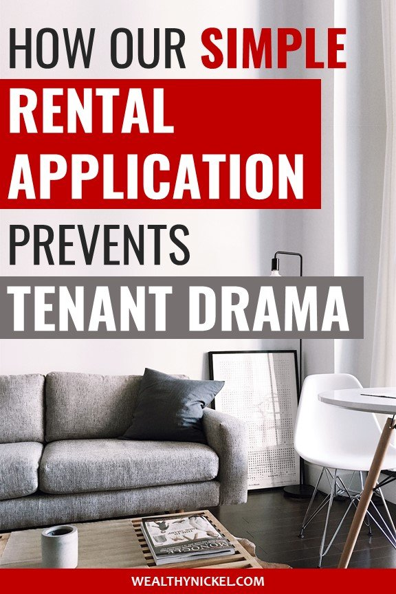 our simple rental application template and tenant screening process
