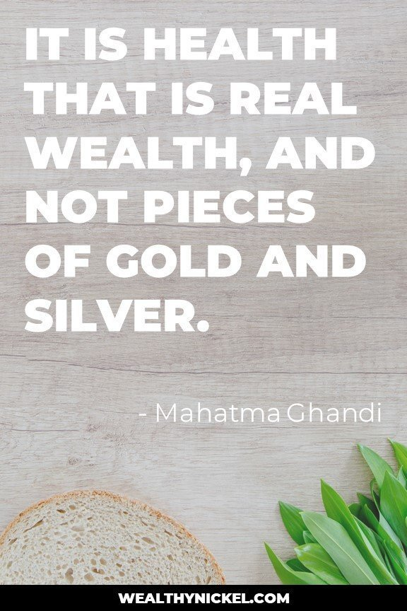 health is more important than wealth