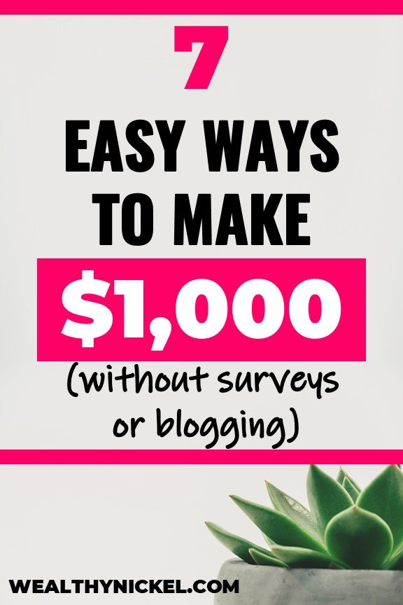 how to make money without surveys or blogging